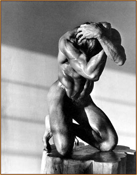 Herb Ritts original photograph of a male nude
