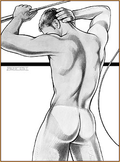 Kent original pencil drawing depicting a male nude