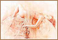Walter Girotto colored pencil drawing depicting a female nude